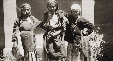Gipsy Kids Smoking Cigarettes, the beginning of 20`s