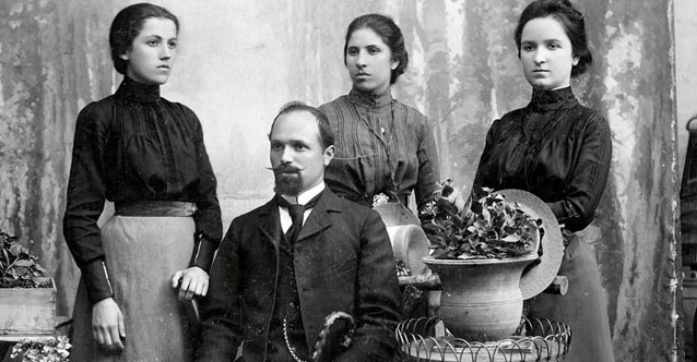 Gentleman with Three Young Ladies, Sofia, the Beginning of 20th Century