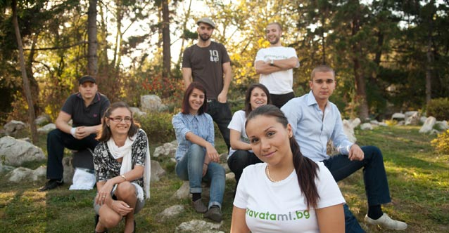 Christina, Rennie, Vyara, Denitsa, Peter, Stanimir, George, Nickola