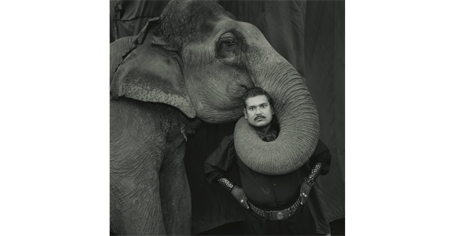 Ram Prakash Singh with His Elephant Shyama, Great Golden Circus, India, 1990 © Mary Ellen Mark