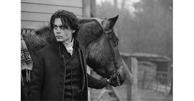 Johnny Depp on the set of Sleepy Hollow, 1999 © Mary Ellen Mark