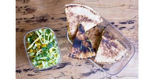 Boxed lunch: avocado quesadilla