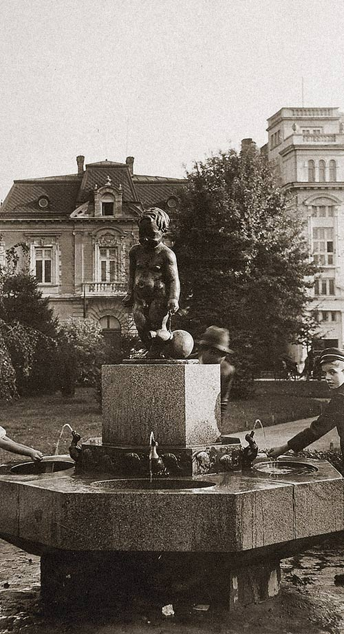 A Fountain in the Garden in front of the Military Club