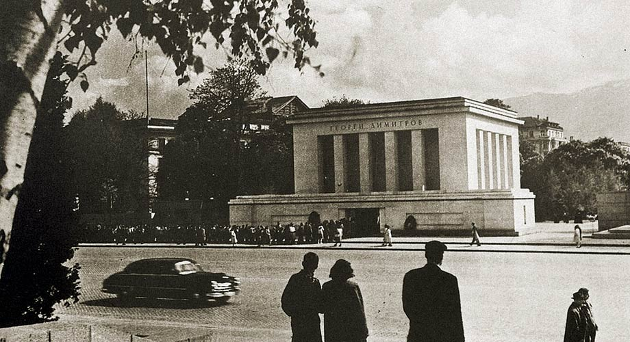 Georgi Dimitrov`s mausoleum and the park on its place today