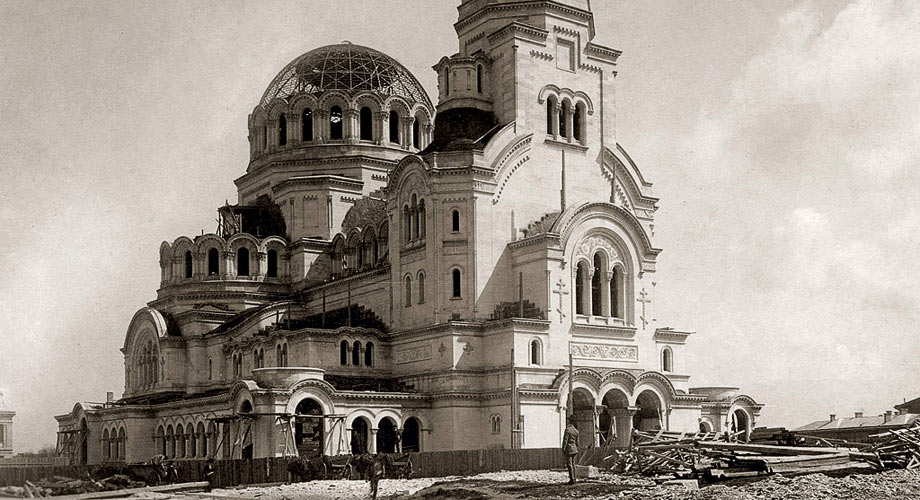 The Construction of the Alexander Nevsky cathedral